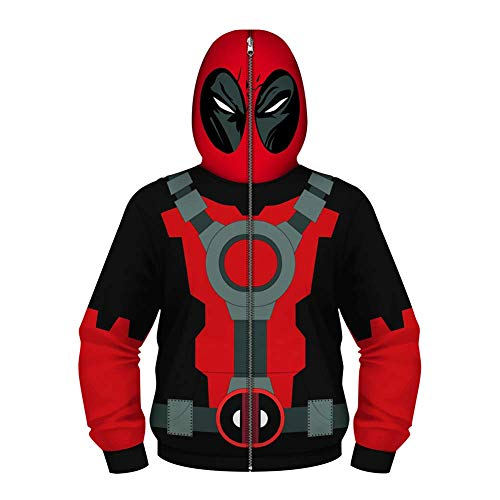 TOOSD Men es Hoodies, Hoodie Classic Parent-Child Children ' S Spider-Man 3D Printed Casual Long-Sleeved Sweater Masked Jacket-XS-L,A,S