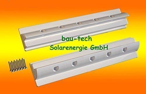 2 x Dachspoiler 68cm weiss Haltespoiler Wohnmobil Dachbefestigung für Solarmodul von bau-tech Solarenergie GmbH