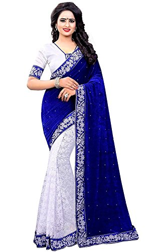 Dheylu Creation Silk Saree With Blouse Piece (FWS-1817_Multi-Coloured_Free Size) (Blue-1)