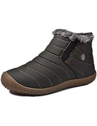 9f676fe1f7f0 tqgold Homme Femme Bottes de Neige Cheville Boots Chaudes Antidérapage Imperméable  Chaussures Hiver