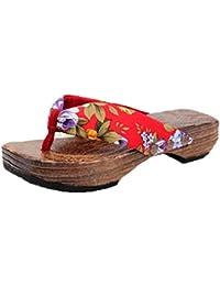 Die traditionelle Japanische holz hausschuhe liebhaber clogs