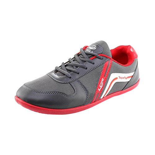 Lancer Men's Er-9 Grey-Red-40 Mesh Sneakers - 6 UK  available at amazon for Rs.339