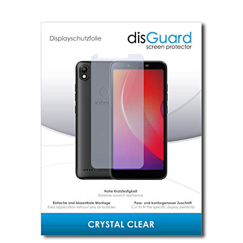 disGuard® Bildschirmschutzfolie [Crystal Clear] kompatibel mit Infinix Smart 2 [2 Stück] Kristallklar, Transparent, Unsichtbar, Extrem Kratzfest, Anti-Fingerabdruck - Panzerglas Folie, Schutzfolie