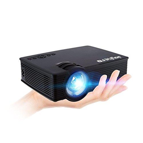 Mini Beamer Joyhero Mini Projektor Beamer Notebook 2000 Lumens 1920 x 1080 Pixel Maximale Unterstützung 1080P Multimedia FullHD LCD-Videogame TV Cinema Party Home Theater Entertainment schwarz