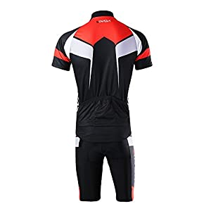 Lixada Cycling Jerseys Uomo maglia manica corta e Shorts Abbigliamento Set per ciclismo all'aperto