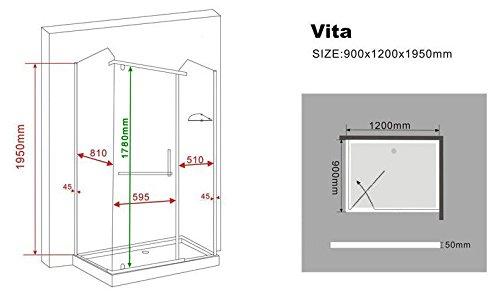 Duschkabine inklusive Duschtasse von VITA - 6