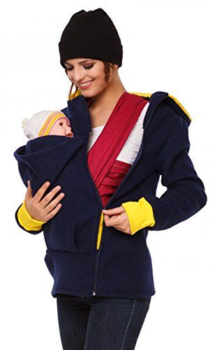 Happy mama femme sweat capuche duo porte b b maternit - Sweat porte bebe ...