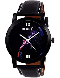 DCH Excuslive Analogue Black Dial Wrist Watch For Men/ Boys(IN-75)