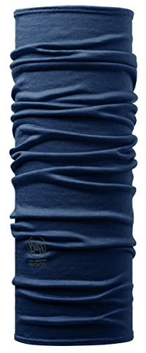 Buff Merino Wool Bandana/Scaldacollo/Fascia Multifunzione, Blu, Taglia Unica