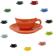 MIBRU Ceramic Coffee Cup With Plate Perfect For Cup or Mug Lovers Perfect for Single or Double Espresso, Cappu