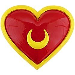 De-Cos Cosplay Costume Accessory Sailor Moon Tsukino Usagi Heart Brooch Shape V2
