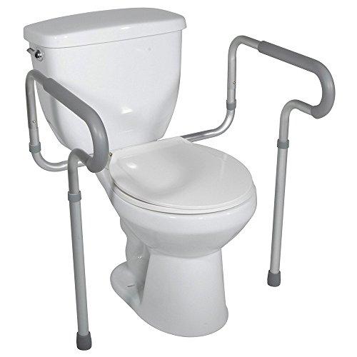 Toilettengestell WC-Aufstehhilfe für Senioren, Breite und Höhe verstellbar