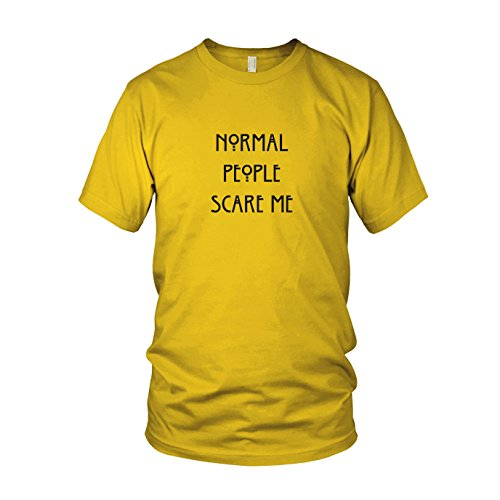 Normal People scare me - Herren T-Shirt, Größe: L, Farbe: (Pinterest Et Kostüm)
