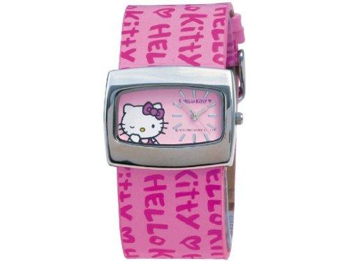Hello Kitty 23366 - Reloj para niñas de cuarzo, correa de piel color varios colores