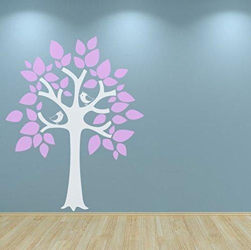 Preisvergleich Produktbild NURSERIE Baum selbstklebend Wandtattoo Dekoration Vögel kinderzimmer Spielzimmer NURSERIE Piéce Kinderzimmer Lilas Gloss