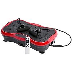 Lecc Vibración Plataforma Fitness Vibración Placas Altavoz Bluetooth con Perder Peso Máquina De Vibración De Todo El Cuerpo W/Control Remoto Y Bandas De Resistencia Entrenamiento Entrenador