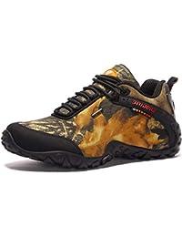 GNEDIAE Homme Chaussures Sports de Plein Air Randonnée et Escalade  Chaussures Talon Plat Longueur Cheville Respirant 7b3dd5b08241