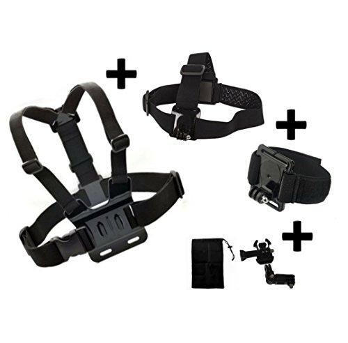 Set von 3Main Zubehör-Brust Head Handschlaufe für Kitvision Escape 4kW hd5W HD5Action Kamera Generic kompatibel mit Kitvision Escape Action Kamera