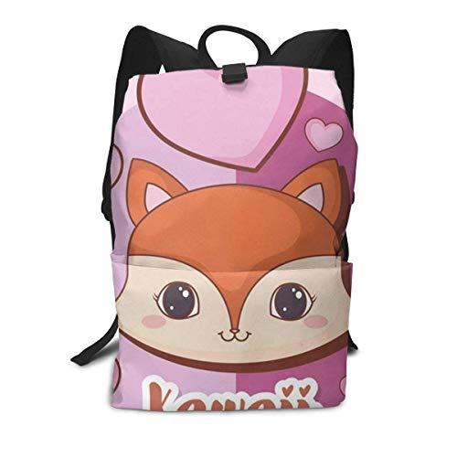 Kawaii Animals Backpack Middle für Kinder Jugendliche Schulreisetasche