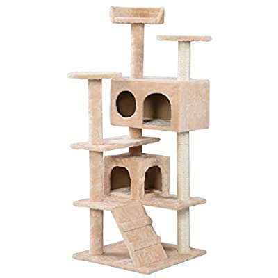 Costway Cat Tree Scratching Post 130 CM Kitten Scratcher Climb Play Rest Centre