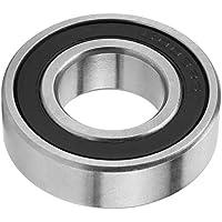 10 unids rodamientos rígidos de bolas de alta velocidad de goma sellados rodamientos de una hilera 6003-2RS 17 * 35 * 10mm / 0.67 * 1.38 * 0.39 pulgadas