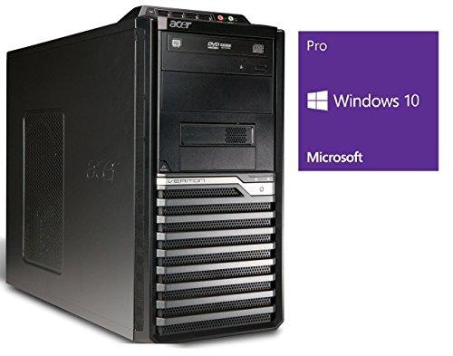 Refurbished Office PC | Acer Veriton M680G | i3-550 @ 3,2 GHz | 8GB RAM | 320GB HDD | DVD-Brenner | Windows 10 Pro (Zertifiziert und Generalüberholt)