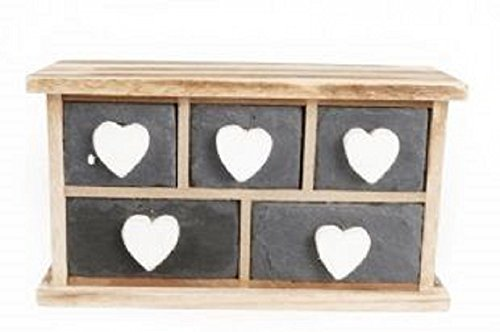 small-unit-slate-front-white-heart-5-drawer