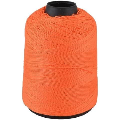 cucito arancione cotone linea cucire filo intrecciare