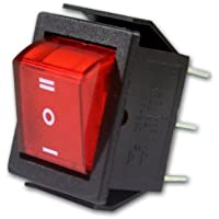 10x Wippenschalter beleuchtet Einbauschalter Kippschalter 1polig Netzschalter