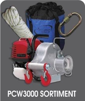 Tragbare Seilwinde PCW 3000 Set (Spillwinde)