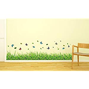 Amazon Brand – Solimo Wall Sticker for Living Room (Butterfly Garden, Ideal Size on Wall – 137 cm x 41 cm)