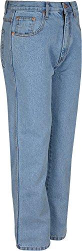 Aztec Herren Jeans, Hose, Innenbeinlänge: 73,6 cm große Größen 60 bis Taille 30 Blau - Hellblau