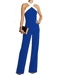 eff488f064d5 Ovender Tuta Elegante da Donna Ragazza Manica Lunga Pantalone Lungo  Jumpsuit Vestito Abito Abbigliamento Tute per