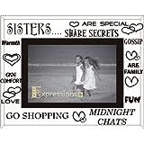 Sixtrees 3-277-64 - Marco de fotos (cristal, 10 x 15 cm), diseño para hermanas con texto en inglés, color blanco