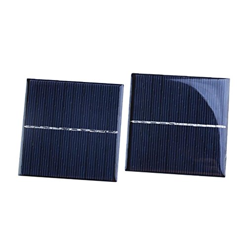 Unbekannt 2 Stücke 5V DIY Solarpanel Solarmodul Solarzelle Polykristalline