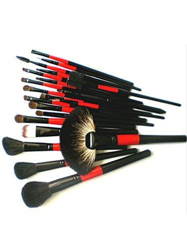 NiSeng 22pcs Professional Cosmetique Kit Bois Kabuki Pinceau de maquillage avec étui Noir
