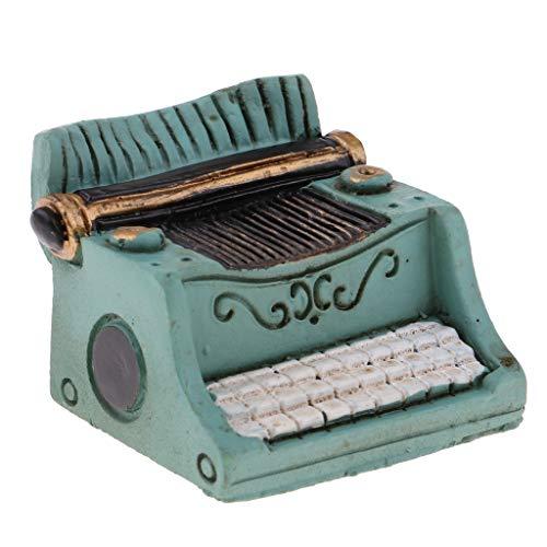 P PRETTYIA 1/12 Miniature Machine à écrire Accessoire de Poupée Vert
