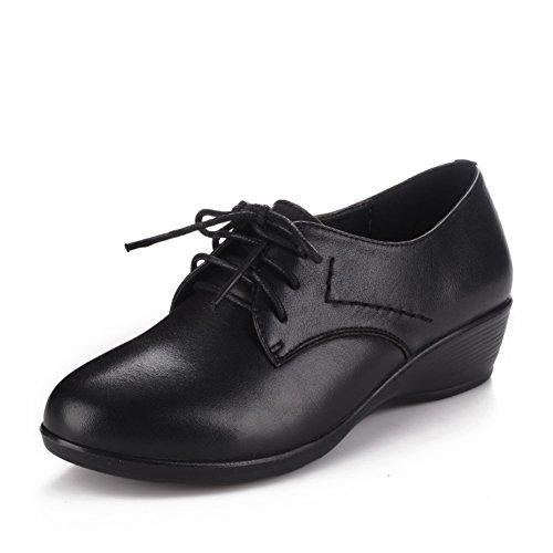 Chaussures femme/Soft coins à la fin du moyen et âgés de vieux souliers pour dames/Chaussures de maman/Chaussures de travail/Chaussures de femmes d'âge moyen A