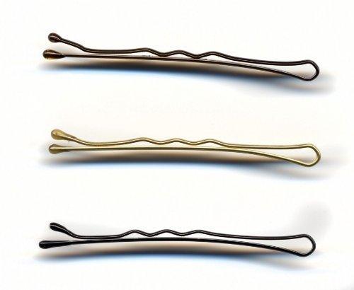 Hair Tools HT60522 Lot de 500 épingles à cheveux ondulées Noir 5 cm