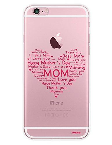 Emmy Case By evetane Hartschale Transparent für iPhone 6und iPhone 6S [Collection Season] FDM Coeur
