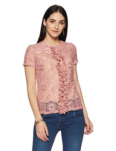 VERO MODA Women's Body Blouse Top (10164166_Bridal Rose_S)