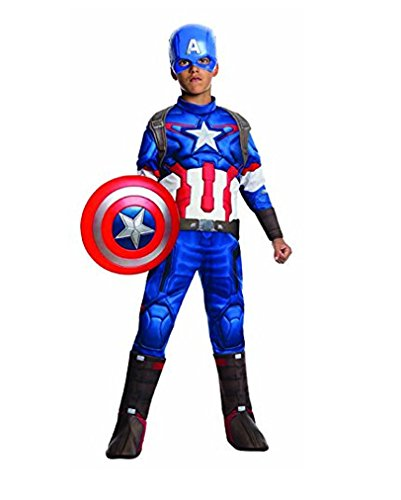 Captain America Kinderverkleidung M (5-7) (Avengers 2 Age Of Ultron Captain America Kostüm)
