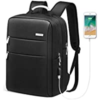 Business Laptop Backpack, HOMIEE 15.6 Inch Anti-Theft Laptop Backpack with USB Charging Port, Slim Lightweight Water Resistant Large College Work Bag for up to 15.6 Inch Laptop and Notebook (Black)