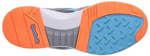 Reebok Pump Infinity Runner, Baskets Basses mixte adulte Gris - Grau (Flat Grey/Solar Orange/Neon Blue/White)