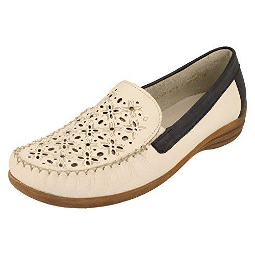 Remonte D6211 Dinka 80, colore: bianco/blu, in pelle, per scarpe (White Combination)