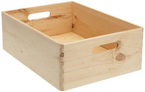 ALLZWECKKISTE AUFBEWAHRUNG HOLZ BOX HOLZBOX HOLZKISTE KASTEN (40x30x15cm)