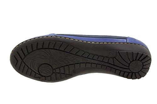 Scarpe donna comfort pelle Piesanto 4751 scarpe soletta estraibile sportive comfort larghezza speciale Marino