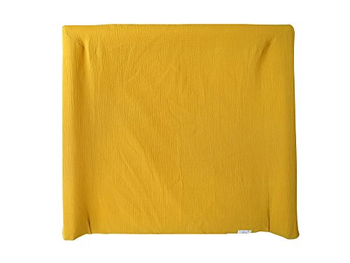Blausberg Baby - Bezug für IKEA Wickelauflage Vädra 74x80 cm - in Senfgelb - aus 100{d5babc5596380c5b31ac10a44db68092f9f3a6d7ecdedf605dae8908bb044e12} Baumwolle-Musslin, Oeko-Tex ® Standard 100 zertifiziert
