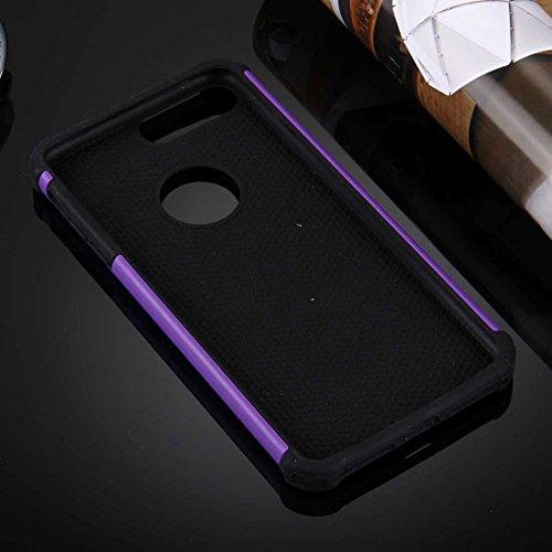 Für iPhone 7 Plus Ball Texture Separate TPU + PC Schock-resistenten Kombination Fall DEXING ( Color : Magenta ) Purple