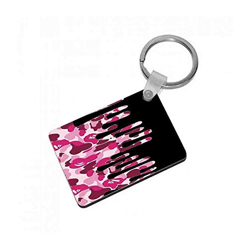 Fun Cases Kylie Jenner - Black & Pink Camo Dripping Cosmetics Keyring